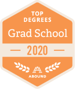 Top Degrees Awards badge for adult graduate programs in 2020