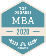 Top Degrees Awards badge for MBA programs in 2020