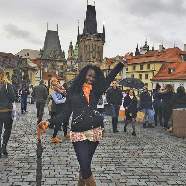 Portrait of SPS Study Abroad Student in Europe