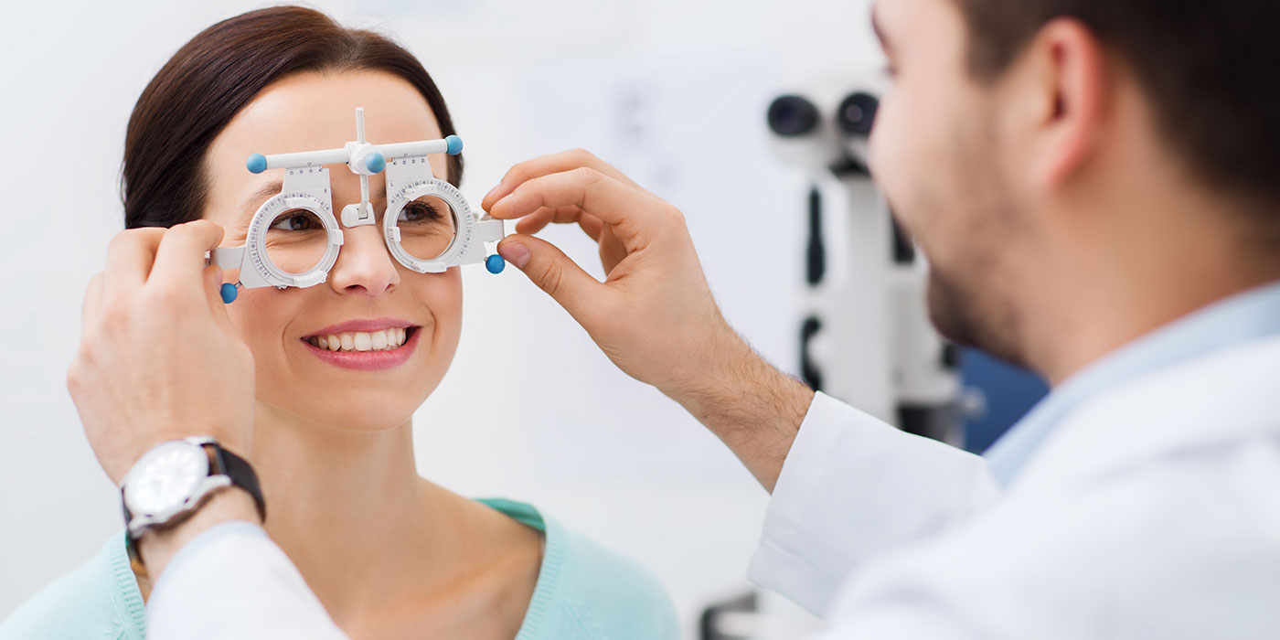 optician with patient