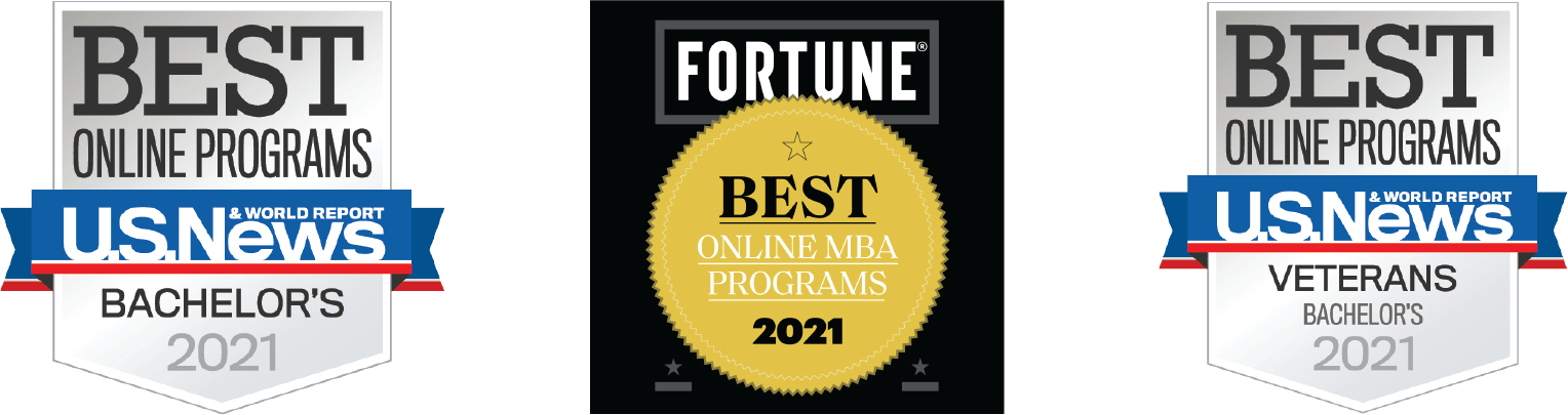 US News and World Report & Fortune Best Online MBA Program 2021