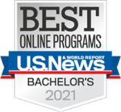 U.S. News and World Report 2020 Best Online Bachelor's Programs Badge